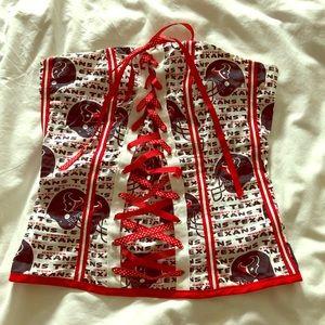 Texans football sexy corset